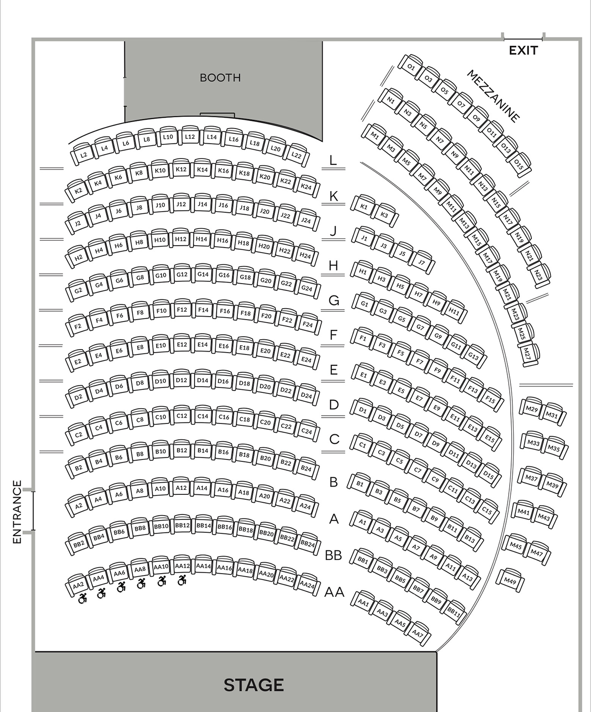 Emelin Theatre Seating Chart